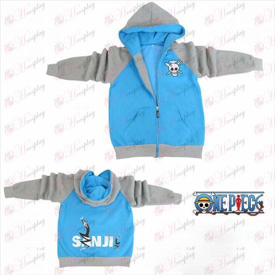 One Piece Tilbehør Sunkist logo gaffel sleeve lynlås hoodie trøje