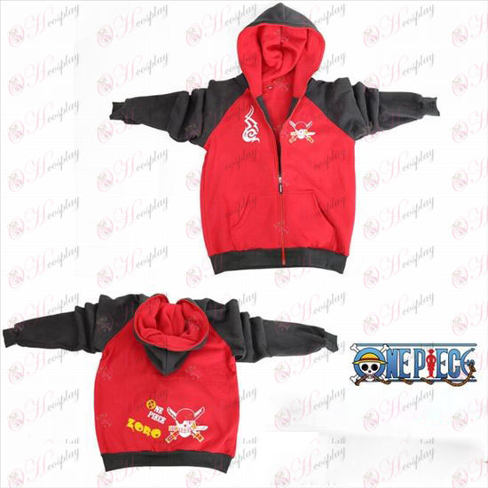One Piece Accessories Sauron flag fork sleeve zipper hoodie sweater