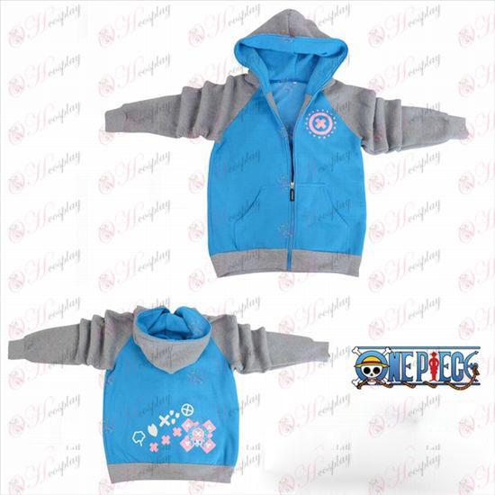 One Piece Accessories Chopper logo fork sleeve zipper hoodie sweater