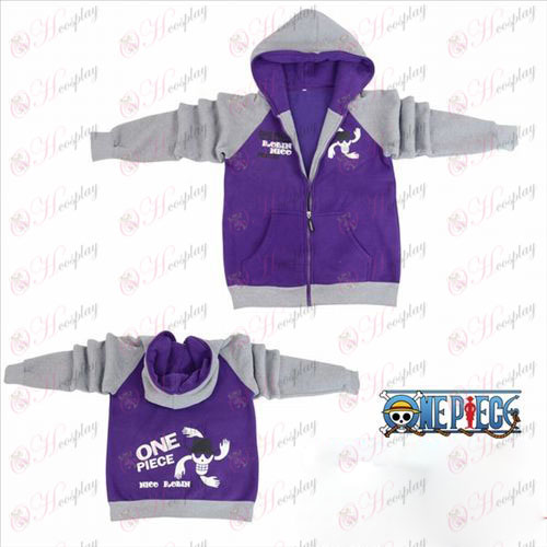 One Piece Accessories Robin flag fork sleeve zipper hoodie sweater