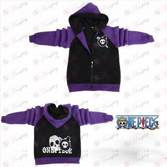 One Piece Accessories Brook flag fork sleeve zipper hoodie sweater