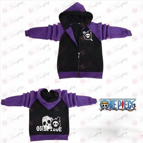 One Piece Tilbehør Brook flag gaffel sleeve lynlås hoodie trøje