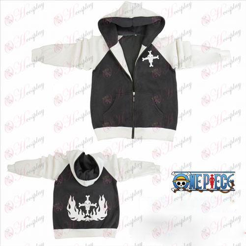 One Piece Accessories fork sleeve white beard logo zipper hoodie sweater