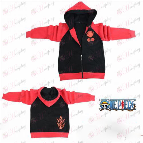 One Piece Accessories Exelon flag fork sleeve zipper hoodie