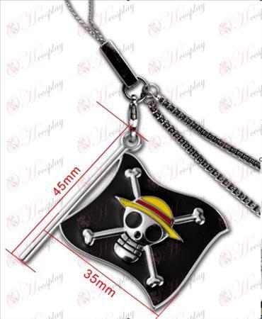 Uno Accesorios-Luffy piratas cadena de telefonía bandera pieza