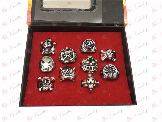 10 One Piece Accessories Rings