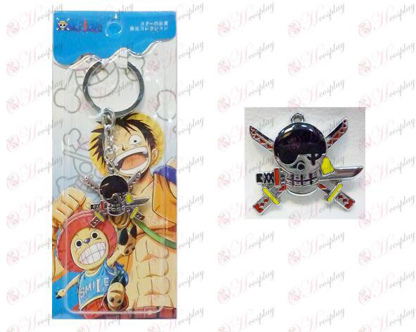 שנים לוגו מחזיק מפתחות One Piece אבזרים Housuo ארוכים