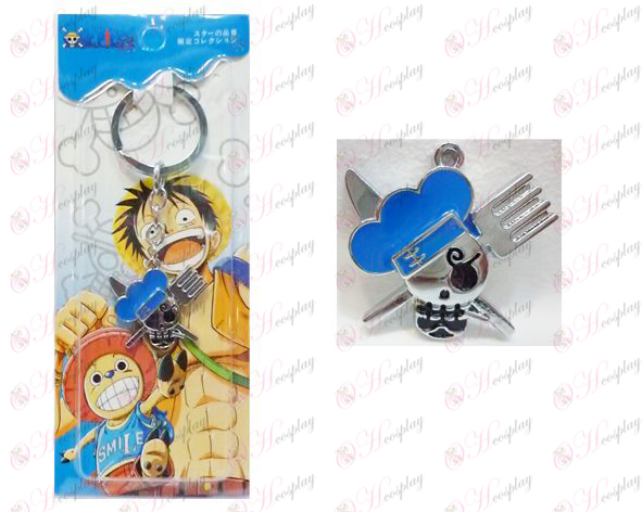 One Piece Accessories logo keychain Sanji after two years