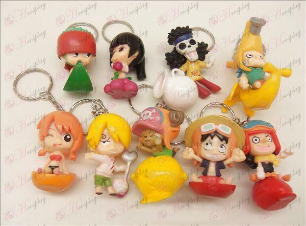 9 One Piece Tarvikkeet Doll avaimenperä