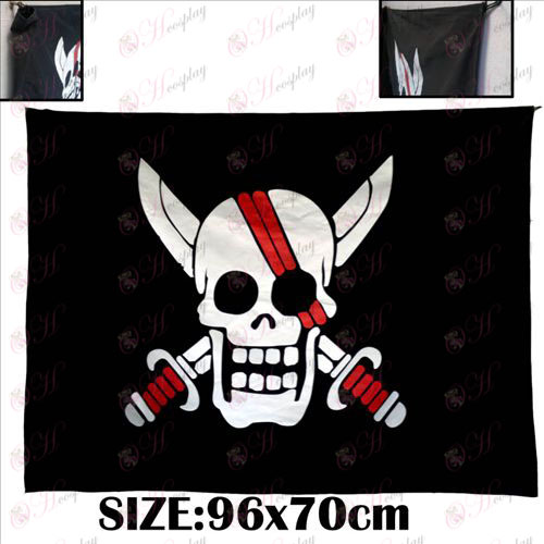 One Piece Kiegészítők emlékeztető vörös haja pirates kalóz zászló