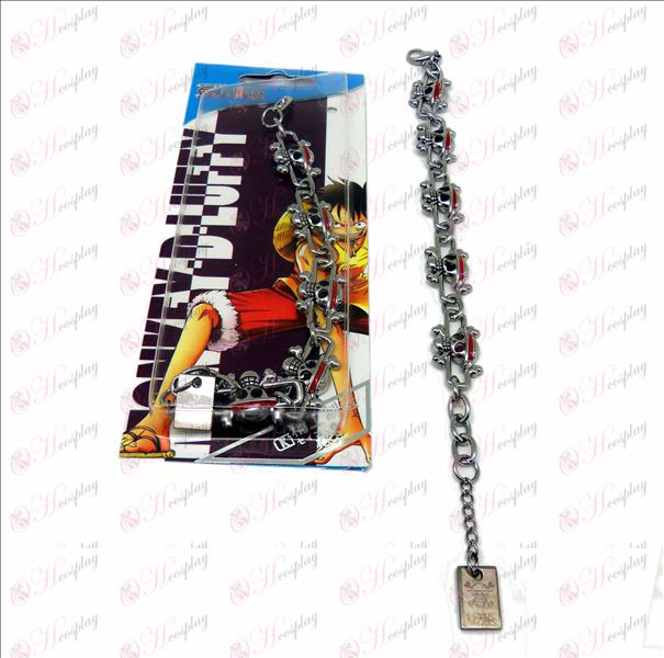 DOne Piece Accessories Luffy logo metal bracelet