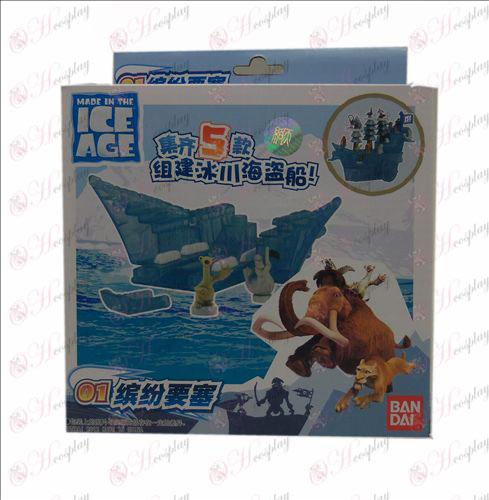 Äkta glaciär Corsair (01 färgstarka fästning)