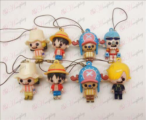 8 modeller One Piece tillbehör Doll Mobil Strap (Frankie) lös
