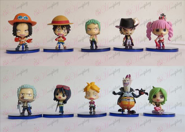 2. generácia 10 v krabici bábiku Q verzia One Piece Príslušenstvo