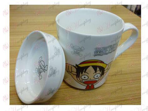 One Piece Luffy Kiegészítők Q változata az új kerámia csésze