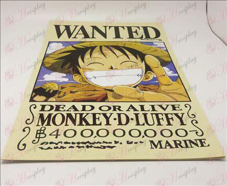 42 * אבזרים Piece 29cmOne Wanted כרטיס + 9 מודבק כרזות