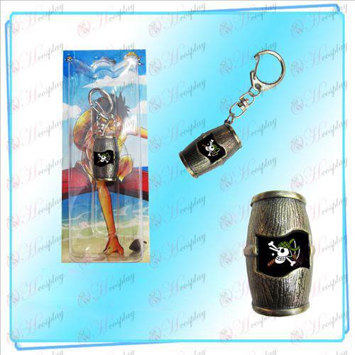Luffy kalózok hordók kulcstartó (Usopp)
