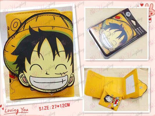 One Piece Luffy Accesorios entrecerrar cartera mayor
