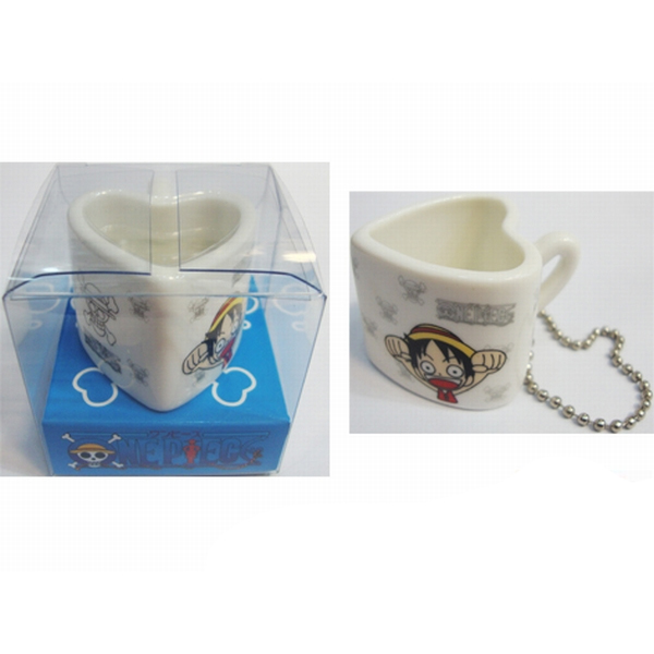 One Piece Accessories bag pendant heart-shaped ceramic cup
