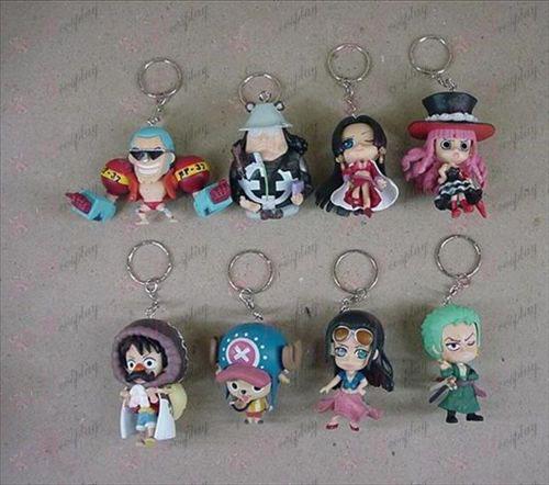 56 on behalf of eight One Piece Accessories Keychains