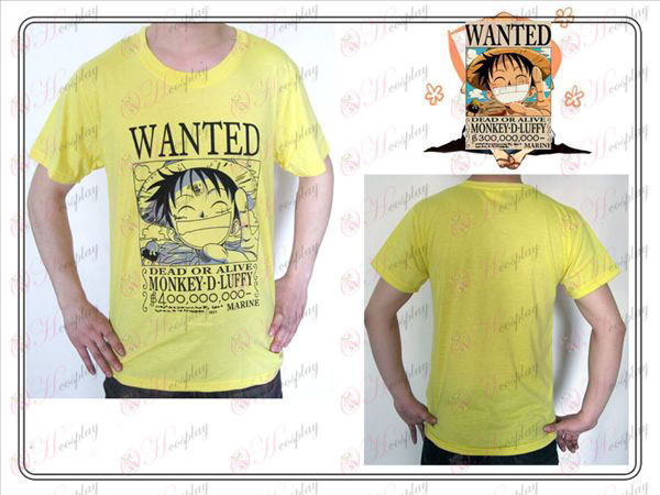One Piece Luffy Accessori Cerco T-shirt (giallo)