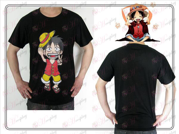 One Piece oprema Luffy T-shirt (črna)