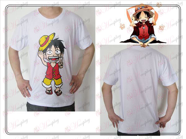 One Piece oprema Luffy T-shirt (bela)