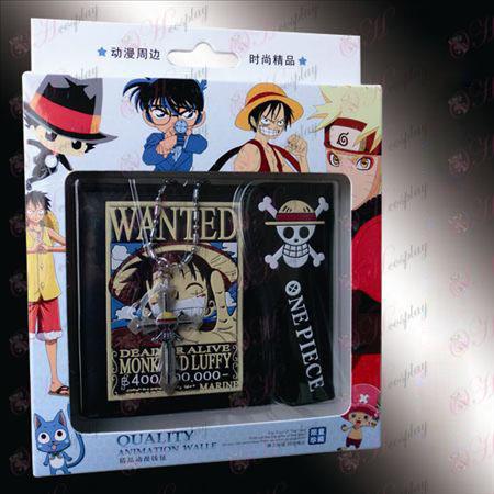 Cross halskæde co-loaded wallet - Luffy Wanted