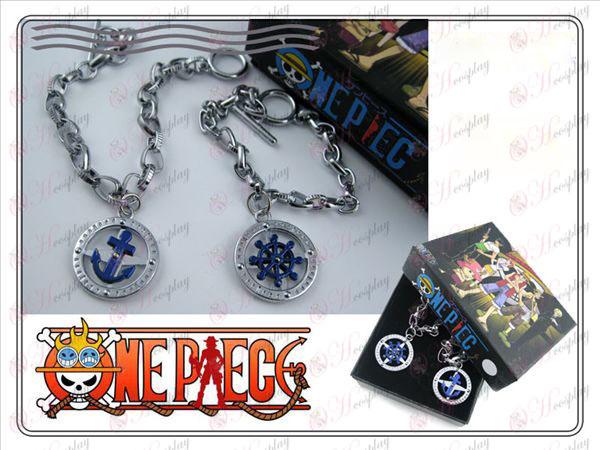 Acessórios One Piece leme par de pulseiras