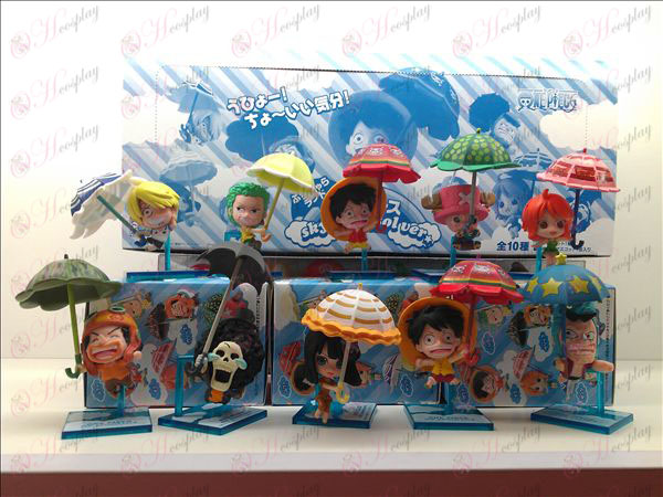 10 Umbrella One Piece tillbehör Doll