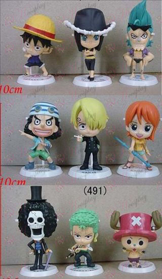 9 Luffy pirates family portrait bottom