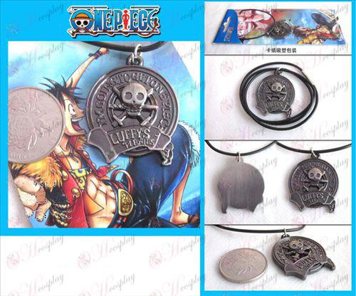 One Piece Acessórios colar logotipo