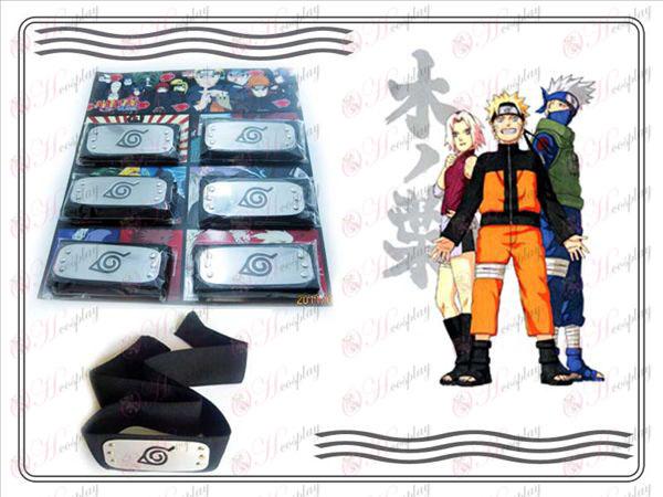 Naruto konoha 6 Xiao Organization fitted black headband