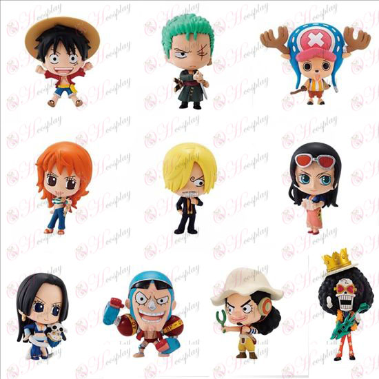 10 Q version av One Piece tillbehör Doll (box)