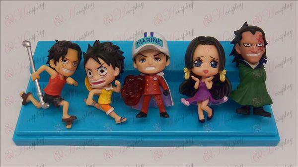 Äkta 5 modeller One Piece tillbehör Doll (bajs) 6,5-7cm