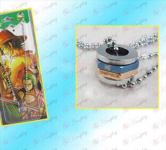 One Piece Accessories hexagonal turn golden necklace