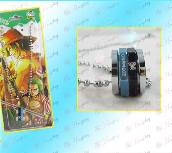 One Piece accessoires collier noir rotation hexagonale