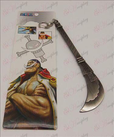 قطعة واحدة زينة أبيض اللحية مشبك سكين (20CM كبير)