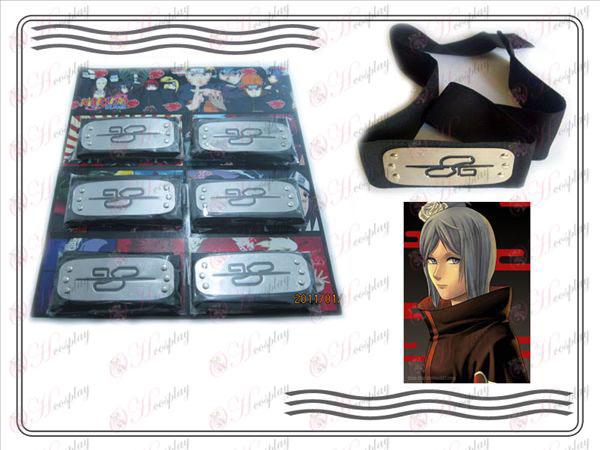 Xiao Organization 6 installed Naruto headband (White Tiger) Black