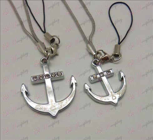 One Piece Accessories Anchor Couple Phone Strap