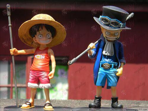 Barndom Edition Luffy og Saab hånd til at gøre