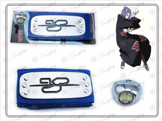 Naruto Stirnband + kleine Süd Blau Weiß Ring Sammleredition