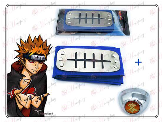 Naruto Payne blå pandebånd + nul ord Ring Collectors Edition