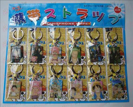 One Piece Accessories12 boards mounted Keychain