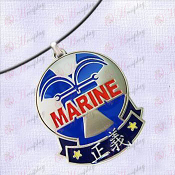 One Piece Accessories-Navy Badge of Justice necklace