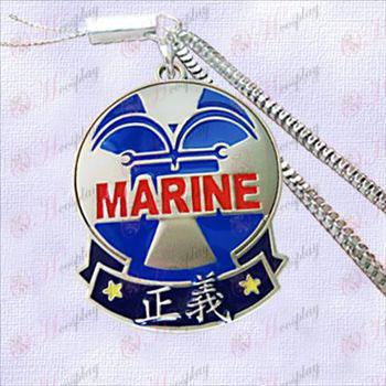 One Piece Accesorios-Navy insignia de la cadena de la máquina Justicia