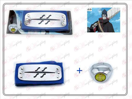 Naruto opprører tåke blå hodebånd + Nan Zi Ring Samlerutgave