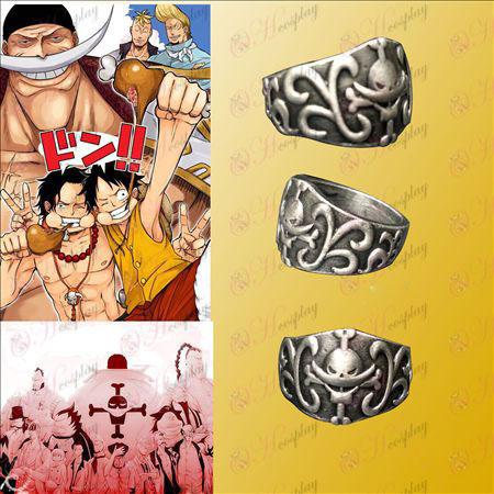 One Piece Αξεσουάρ White Huzi Hai κάρτα Ring Πειρατές εγκατασταθεί