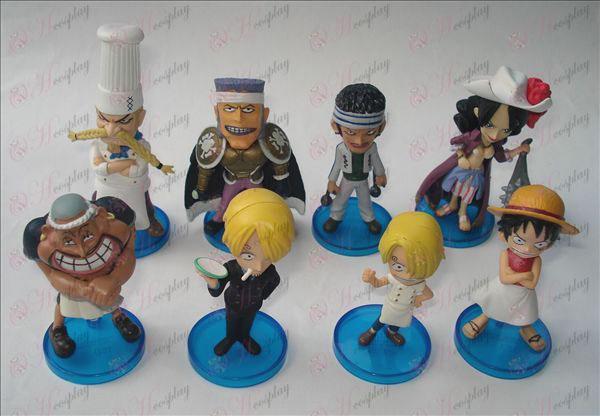 8 modeller One Piece Tilbehør dukke vugge