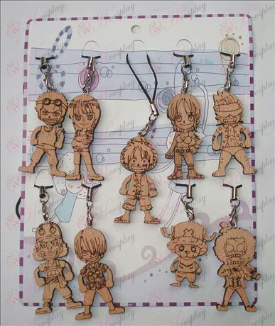 One Piece Accessories character wood engraving Strap (9 / set)